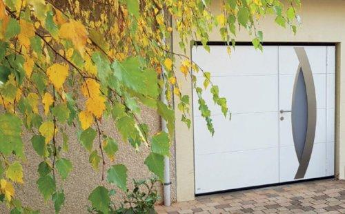 Pose d'une porte de garage basculante Wedoor à Saint-Symphorien-d'Ozon et sa région.